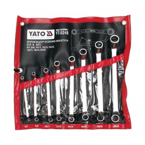 Набор ключей накидных изогнутых 8 шт. 6-22 мм