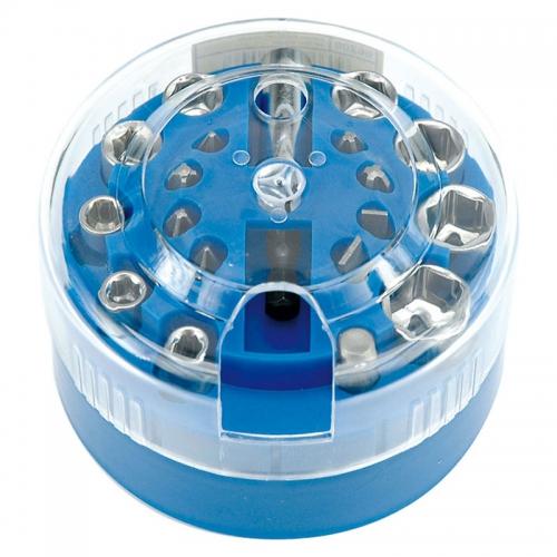 Набор бит и головок 4-13мм 20 предметов (пластиковая кассета)