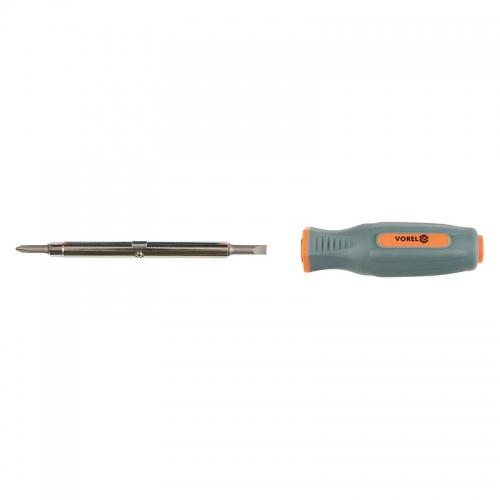 Отвёртка двухсторонняя PH1x5мм, PH2x6мм (резиновая ручка)