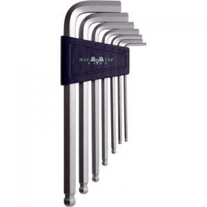 Набор торцевых ключей CV 7 предметов HEX 2.5-10 мм с шаром (кассета)