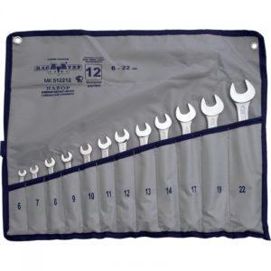 Набор комбинированных ключей 12 предметов 6-22мм (сумка)