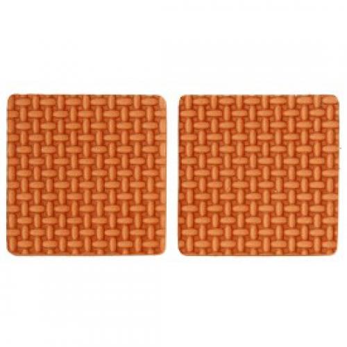 Набор самоклеющихся протекторов 85х85 мм / 2 шт. - коричневые