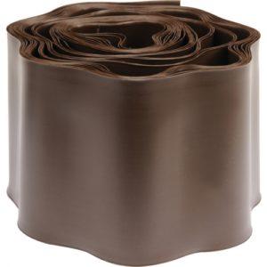 Бордюрная лента для газона 9м / 10см - коричневая
